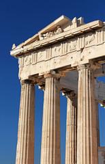 Part of ancient Parthenon at the Acropolis, Athens, Greece