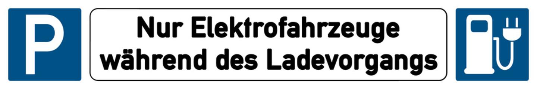 German Schild G301 - Elektrofahrzeuge während des Ladevorgangs