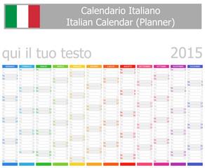2015 Italian Planner Calendar with Vertical Months