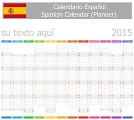 2015 Spanish Planner-2 Calendar with Vertical Months