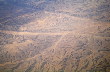 Type of desert from air, Egypt