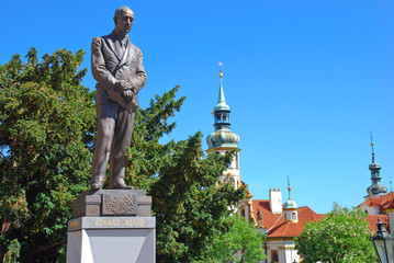 Statue of Edvard Benes in front of Ministry of Foreign Affairs