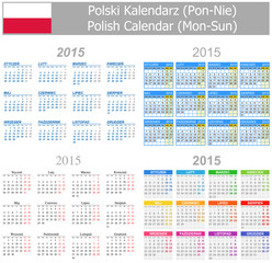 2015 Polish Mix Calendar Mon-Sun