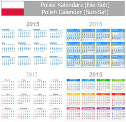 2015 Polish Mix Calendar Sun-Sat