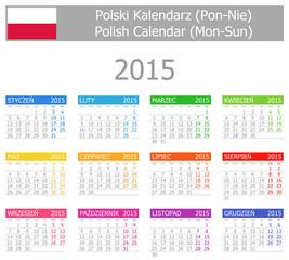 2015 Polish Type-1 Calendar Mon-Sun