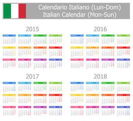 2015-2018 Type-1 Italian Calendar Mon-Sun