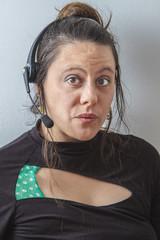Woman phone agent