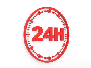 horaires d'ouverture - service 24 h.