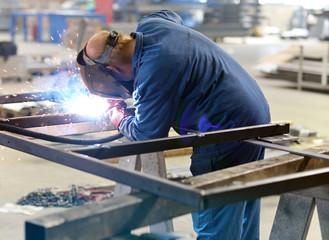 Schweißer im Stahlbau // Welder Worker