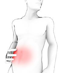 Stomaco bruciore mal di pancia corpo umano
