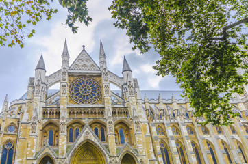 Westminister Abbey catedral from below, London
