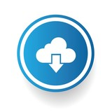 Output cloud computing symbol,vector poster