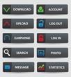 Website buttons,vector
