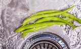 Washing Green Bean Vegetables