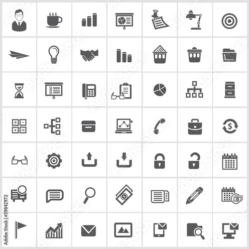Office icons,vector