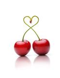 Kirschen als Herzchen