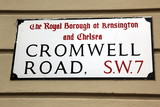 London Street Sign, Cromwell Road, Borough of Kensington and Che poster