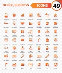 Office and business concept,Orange version