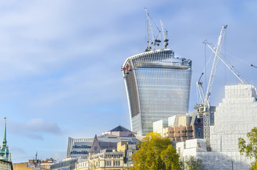 London city's new giant office tower under construction