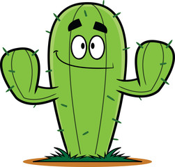 Smiling Cartoon Cactus