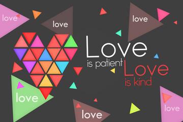 Love is Patient Love is Kind - Dark background