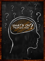 What's on people's mind?