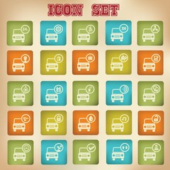 Car service vintage icons,vector