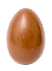 Milk Chocolate Egg On White Background