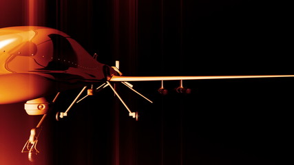 Predator Type Drone 3D animation
