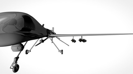 Predator Type Drone Showroom with Matte