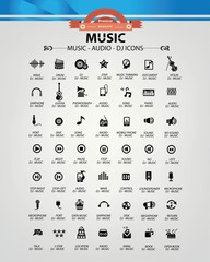 Music,Audio,Dj icons,vector