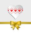 Herz Schleife gold