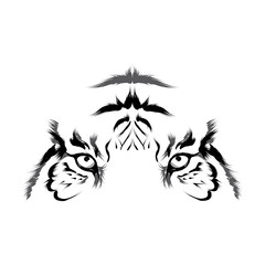 Tiger (head outline vector)