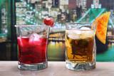 Fototapety cocktails colorati New York sullo sfondo