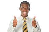 African American Businessman Showing Thumbs Up
