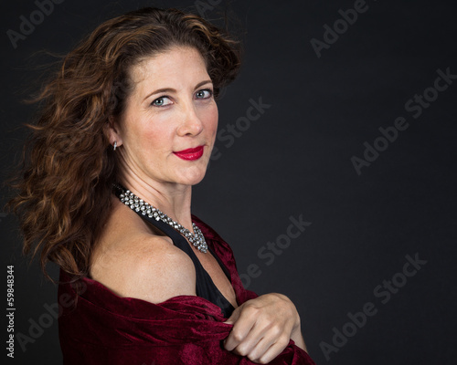 Elegant Middle Aged Woman