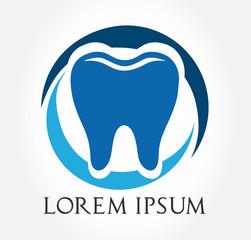 tooth symbol. vector illustration.