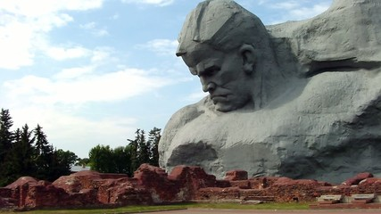 "The ""Courage"" monument at the Brest Fortress"