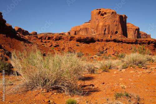 Poster Oranje eclat Monument Valley