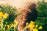 wind in hair in summer