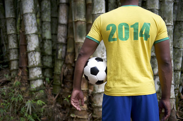 Brazilian 2014 Soccer Football Player Jungle Bamboo