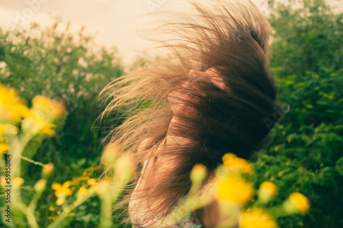 wind in hair in summer