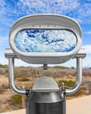 Outdoor daytime viewing telescope,cloud reflection