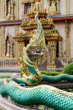 Dragon at the Wat Chalong in Phuket Thailand