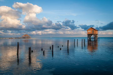 Home on the Ocean in Ambergris Caye Belize © bbourdages