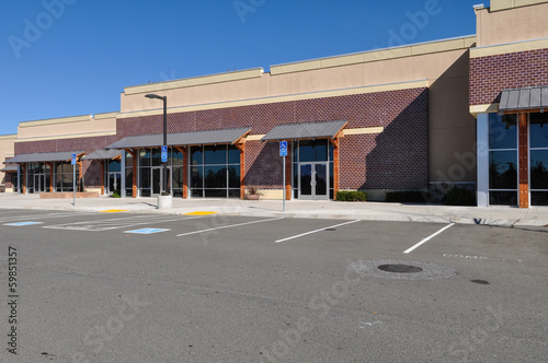 New Shopping Center made of Brick Facade - 59851357