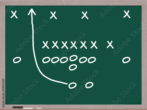 Football Play on a Chalkboard