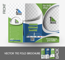 Tri-Fold Business Store  Brochure Design