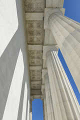 Stone Pillars at the Lincoln Memorial
