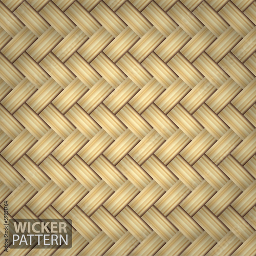 Brown Wicker Seamless Pattern Vector